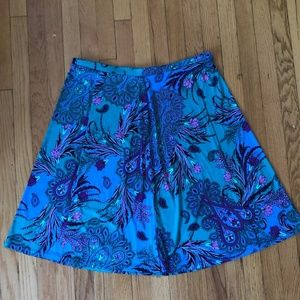 Vintage Midi Skirt, Patterned